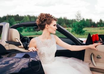 Свадебное платье нежно-розовое со шлейфом
