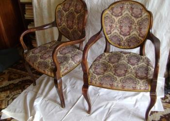 Кресло для музея. Два предмета. Антиквариат.