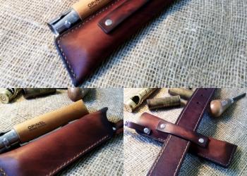 Чехол для ножа Opinel из натуральной кожи