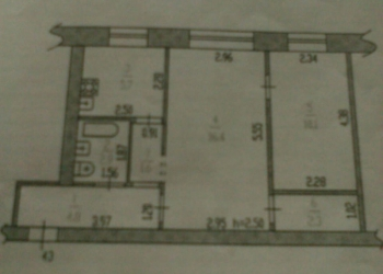 2-к квартира, 42 м2, 1/5 эт.