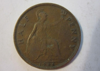1/2 пенни 1936 Великобритания