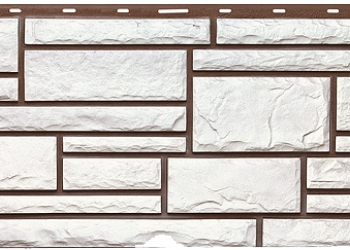 Цокольный сайдинг Техоснастка, камень белый