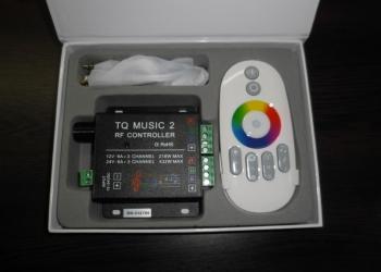 Музыкальный RGB LED контроллер для светодиодной ленты (music 2),12-24V,18А,RF