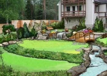 Устройство рулонного газона,Ландшафтный дизайн