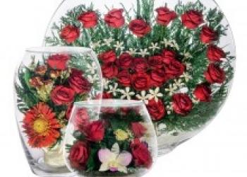 Цветы живые в стекле на 7 лет