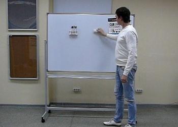 Доска поворотная магнитно-маркерная 100х150 см