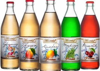 Лимонады «Минералов» Буратино, Вишня, Груша, Тархун, Лимонад. Стекло 0,5 л.
