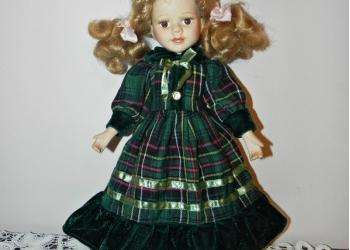 Милая интерьерная фарфоровая куколка, Англия.