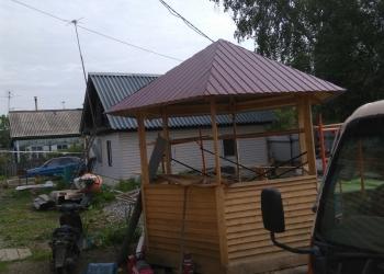Забор из профлиста . Строительство домов , беседок , бань.