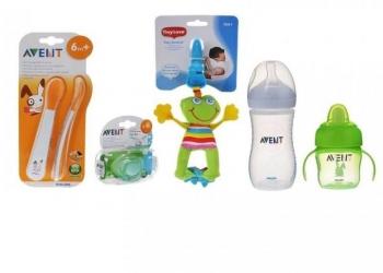 Бутылочки, поильники, посуда и игрушки для детей