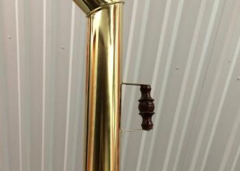 Труба латунная с деревянной ручкой для самовара