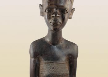 Статуэтка африканки. Причёска с хвостиком