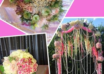 Оформление свадеб цветами,декором,тканью