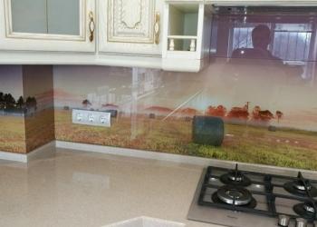 Фартук из стекла с фотопечатью на заказ в Калининраде