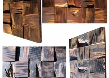 3D стеновые панели из карагача, ясеня, ореха, акации, дуба