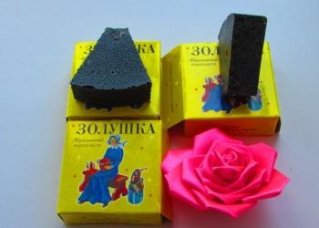 Чудо губка средство без химии Золушка абразивный поропласт чистящий камушек
