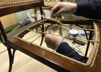 ремонт садовой мебели из ротанга