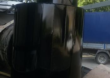 Кессон металлический с круглой горловиной (650 мм) с монтажной гильзой