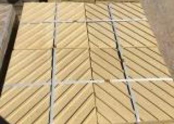 Тактильная плитка 500х500х50 желтая c Диагональным рифом