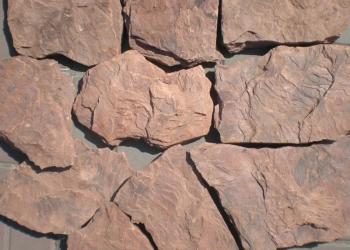 Камень Красный Дракон обожженный природный песчаник