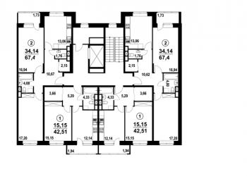 1-к квартира, 42 м2, 5/7 эт.