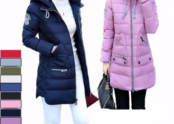 Утепленная зимняя куртка с капюшоном с хлопковым наполнителем