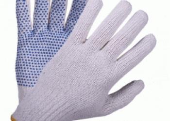 Перчатки ХБ с ПВХ и латексным покрытием.