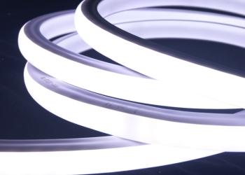 Гибкий светодиодный неон 220В белый