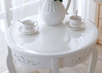 Скатерть прозрачная на  круглый стол
