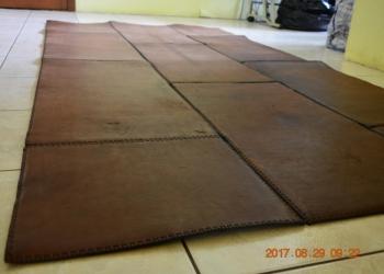 Продажа ковра из кожи - ручная работа