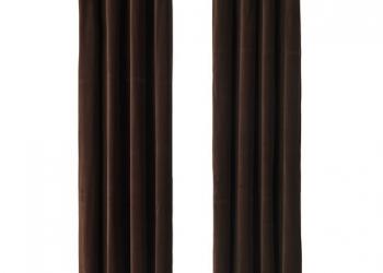 САНЕЛА Гардины, 1 пара, темно-коричневый коричневый