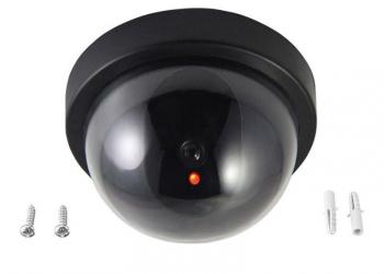 Муляж камеры видеонаблюдения с мигающим светодиодом, обманка, макет, круглая