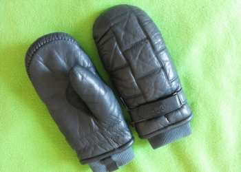 Варежки кожаные зимние Take Two -33