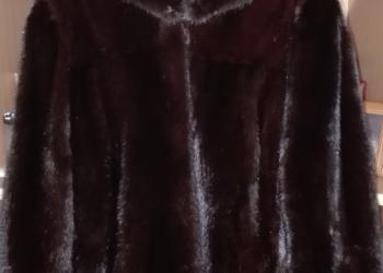 Шубка из цельных неокрашенных пластов русской норки