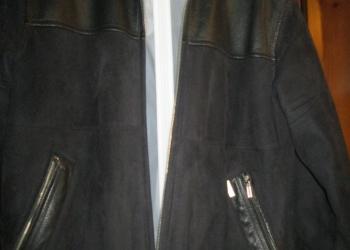 Куртка мужская замшевая, чёрная, р. 50-52, Корея.