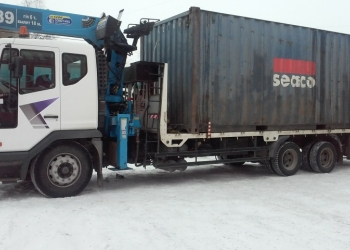 Перевозка контейнеров самопогрузчиком