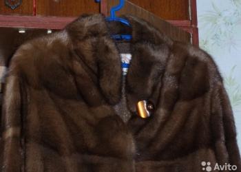 Продам норковую шубу 48-50 орех 97 см