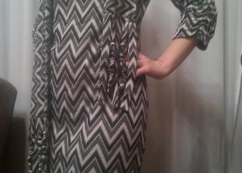 платье трикотажное с шарфом