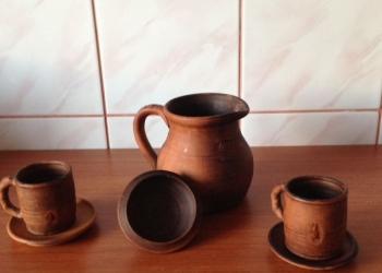 Набор посуды из глины