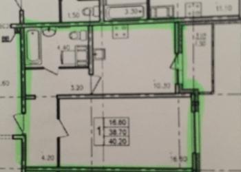 1-к квартира, 40 м2, 13/22 эт.
