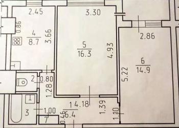 2-к квартира, 51 м2, 9/10 эт.