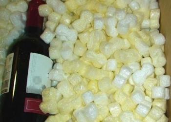 Упаковка сыпучая  насыпная  из пенополистирола для заполнения пустот в коробках