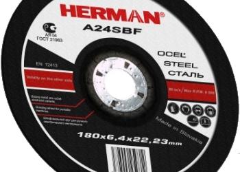 Абразивный отрезной круг HERMAN EXPERT