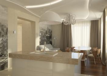 Дом с дизайн проектом на вертолётном поле
