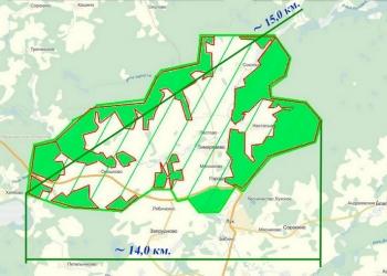 Земельный массив 7 250 га из них 2750 га леса в собственности!