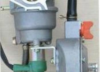 Карбюратор для бензогенератора GX420190F мультитопливный бензин/газ, мощностью 5