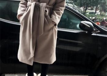 Пальто-халат на поясе