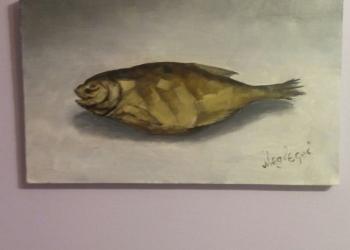 """картина """"рыба"""" маслом 30х40см"""