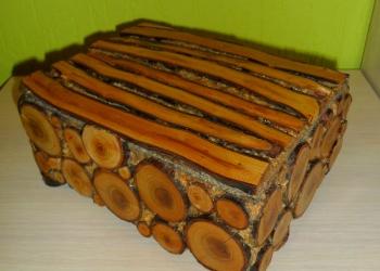 Шкатулка из плодовой древесины ручной работы