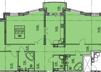 Продам 5-к квартиру, 180 м2, 11/22 эт+парковка+дизайн